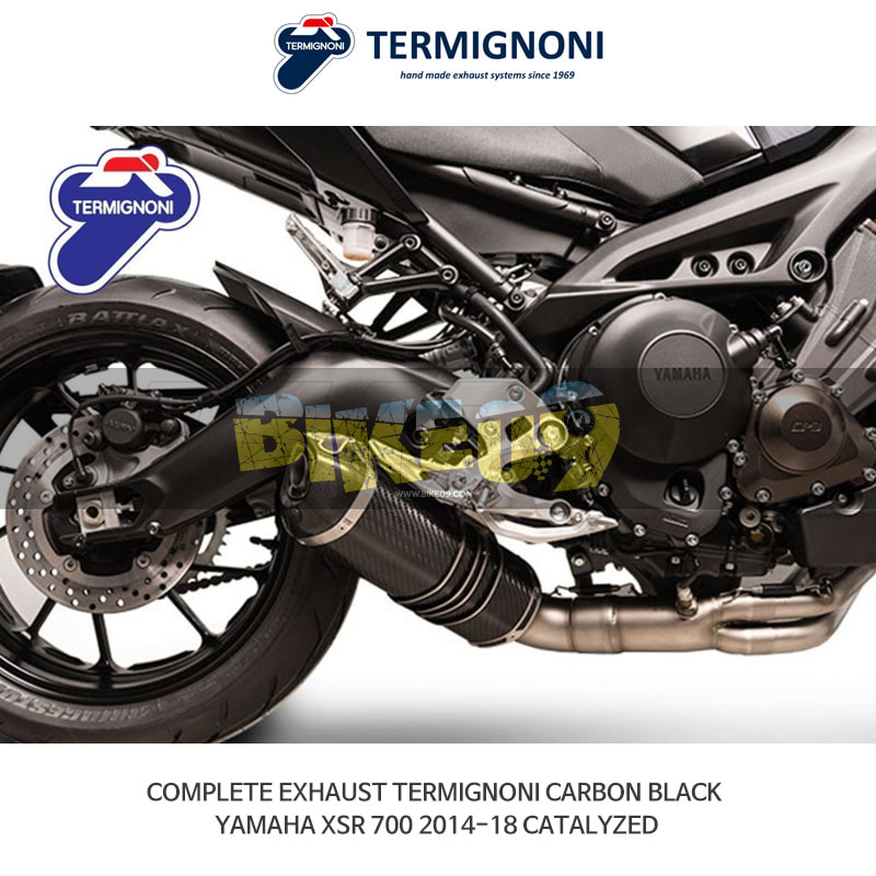 떼르미뇨니 오토바이 머플러 YAMAHA 야마하 XSR700 (14-18) CATALYZED 카본 블랙 풀시스템