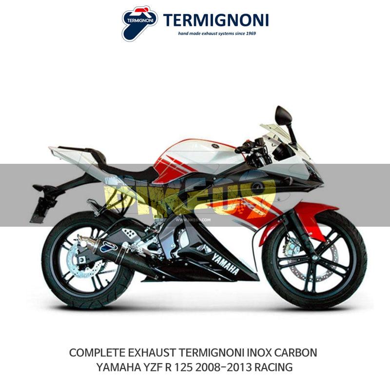 떼르미뇨니 오토바이 머플러 YAMAHA 야마하 YZF R125 (08-13) RACING INOX 카본 풀시스템