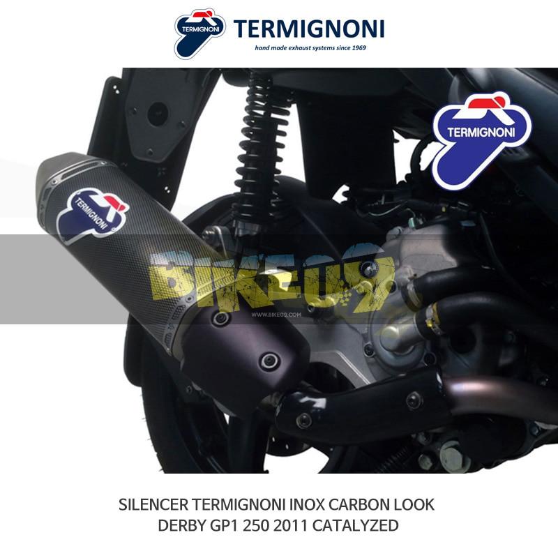 떼르미뇨니 오토바이 머플러 DERBI 더비 GP1 250 (2011) INOX 카본룩 CATALYZED 슬립온