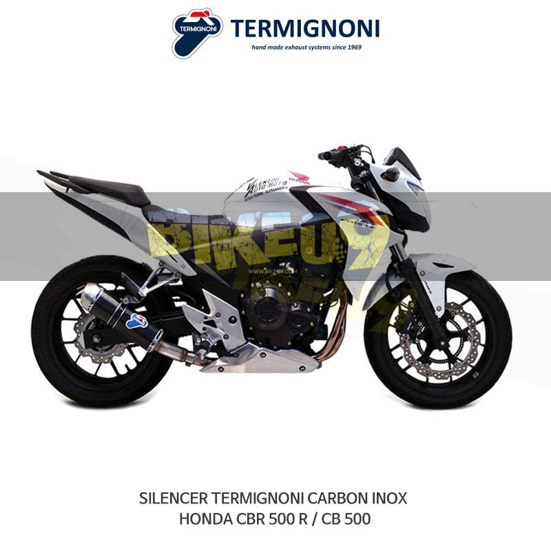 떼르미뇨니 오토바이 머플러 HONDA 혼다 CBR500R/CB500 카본 INOX 슬립온 (H116080CVI)