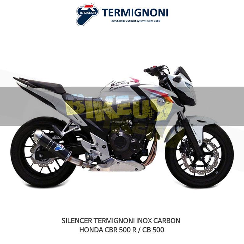 떼르미뇨니 오토바이 머플러 HONDA 혼다 CBR500R/CB500 INOX 카본 슬립온 (H116080CV)