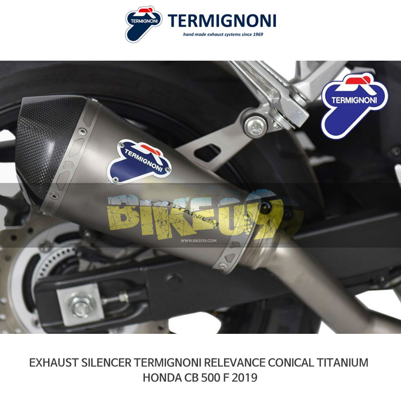 떼르미뇨니 오토바이 머플러 HONDA 혼다 CB500F (2019) RELEVANCE CONICAL 티탄 슬립온