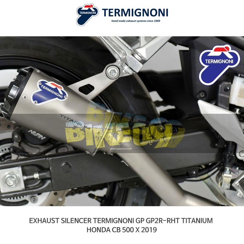 떼르미뇨니 오토바이 머플러 HONDA 혼다 CB500X (2019) GP2R-RHT 티탄 슬립온