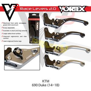 볼텍스 V3 2.0 클러치 레버 숏 블랙 KTM 690듀크 (14-18) LVC546