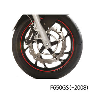 분덜리히 F650GS(-2008) Wheel rim stickers - red