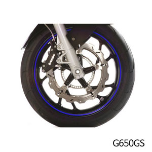 분덜리히 G650GS Wheel rim stickers - blue