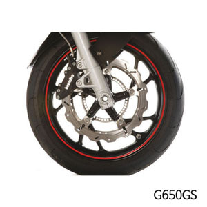 분덜리히 G650GS Wheel rim stickers - red