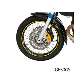 분덜리히 G650GS Wheel rim stickers - yellow