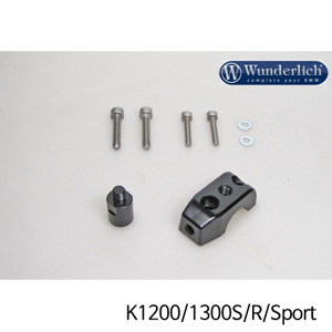 분덜리히 K1200/1300S/R/Sport Mirror clamp for additional mirror (Set) 블랙