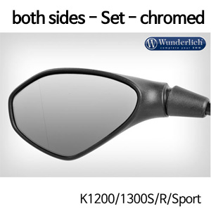 분덜리히 K1200/1300S/R/Sport Mirror glass expansion SAFER-VIEWfor both sides - Set - chromed