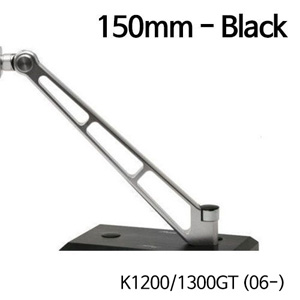 분덜리히 K1200/1300GT (06-) MFW Naked Bike aluminium mirror stem - 150mm 블랙