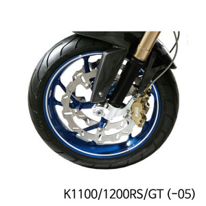 분덜리히 K1100 K1200RS GT (-05) Wheel rim stickers - white
