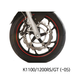 분덜리히 K1100 K1200RS GT (-05) Wheel rim stickers - red