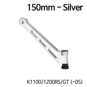 분덜리히 K1100 K1200RS GT (-05) MFW mirror stem - 150mm - silver