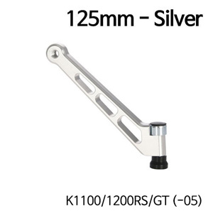 분덜리히 K1100 K1200RS GT (-05) MFW aluminium mirror stem - 125mm - silver