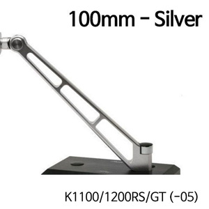분덜리히 K1100 K1200RS GT (-05) MFW Naked Bike mirror stem - 100mm - silver