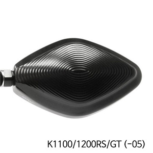 분덜리히 K1100 K1200RS GT (-05) MFW Naked Bike aluminium mirror housing - black