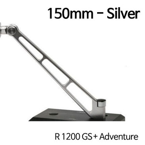 분덜리히 R1200GS/어드벤처 MFW Naked Bike aluminium mirror stem - 150mm - silver