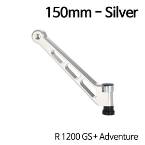 분덜리히 R1200GS/어드벤처 MFW mirror stem - 150mm - silver