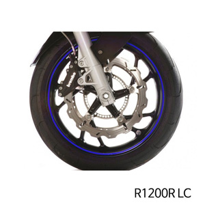 분덜리히 R1200R LC Wheel rim stickers - blue