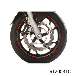 분덜리히 R1200R LC Wheel rim stickers - red