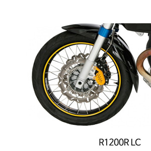 분덜리히 R1200R LC Wheel rim stickers - yellow