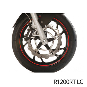 분덜리히 R1200RT LC Wheel rim stickers - red