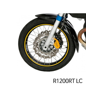분덜리히 R1200RT LC Wheel rim stickers - yellow