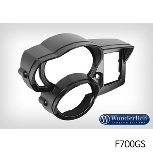 분덜리히 F700GS 계기판 커버 선바이져 블랙색상
