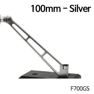 분덜리히 F700GS MFW Naked Bike mirror stem - 100mm 실버색상