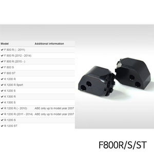 분덜리히 F800R S ST Vario joint passenger (pair) 블랙색상