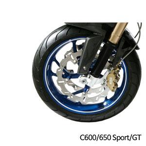 분덜리히 BMW C600/C650 Sport/GT 휠 림 스티커 화이트색상