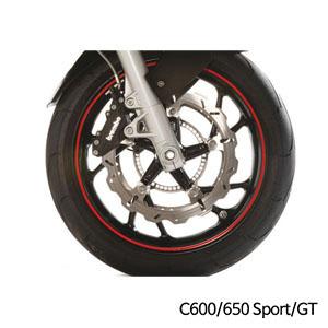 분덜리히 BMW C600/C650 Sport/GT 휠 림 스티커 레드색상