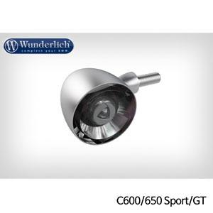 분덜리히 BMW C600/C650 Sport/GT Kellerman Bullet 1000 (piece) - 프론트 무광 크롬 색상
