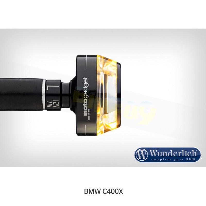 """분덜리히 BMW 모토라드 C400X Motogadget """"mo.blaze Disc"""" 인디케이터 (좌측용) - 블랙 색상 36342-202"""