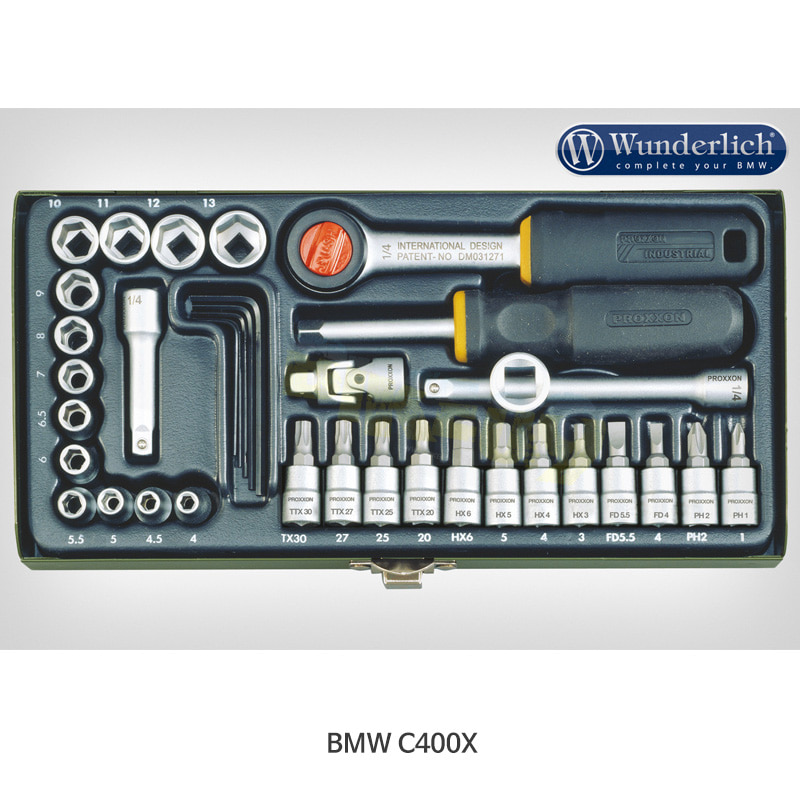 """분덜리히 BMW 모토라드 C400X Proxxon 소켓 세트 1/4 """" 36-part 41880-100"""