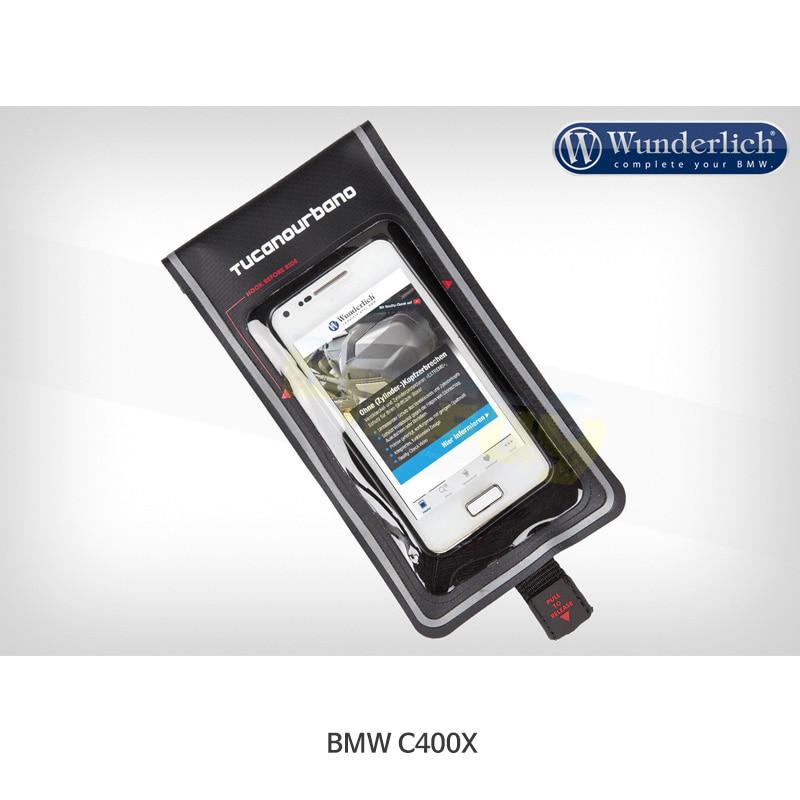 분덜리히 BMW 모토라드 C400X Thermoscud PRO and Gaucho PRO 다리 보호대용 스마트폰 범용 포켓 - 블랙 색상 45301-102