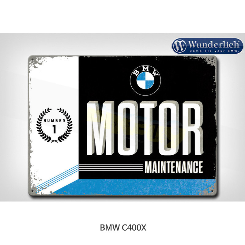 분덜리히 BMW 모토라드 C400X Metal sign BMW Motor Maintanance 40x30cm - Nostalgic Art 25320-203