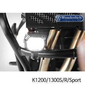 분덜리히 안개등 K1200 K1300S R Sport Micro Flooter LED auxiliary headlight - crash bar mounting 블랙