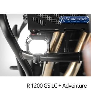 분덜리히 안개등 R1200GS LC R1200GS어드벤처 Micro Flooter LED auxiliary headlight - crash bar mounting 블랙