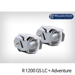 분덜리히 안개등 R1200GS LC R1200GS어드벤처 Micro Flooter LED auxiliary headlight - crash bar mounting 실버