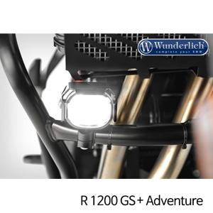 분덜리히 안개등 R1200GS 어드벤처 Micro Flooter LED auxiliary headlight - crash bar mounting 블랙
