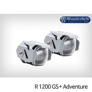 분덜리히 안개등 R1200GS 어드벤처 Micro Flooter LED auxiliary headlight - crash bar mounting 실버