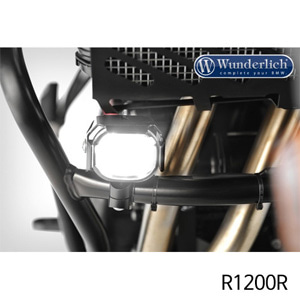 분덜리히 안개등 R1200R Micro Flooter LED auxiliary headlight - crash bar mounting 블랙
