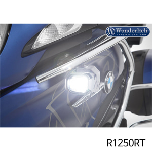 분덜리히 R1250RT LED additional headlight MicroFlooter R1200/1250RT LC silver